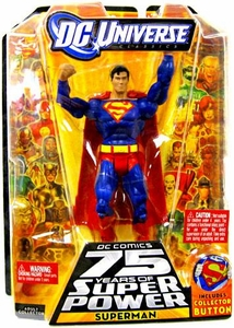 DC Universe Classics 75 Years of Super Power Action Figure Superman [Includes Collector Button]