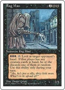 Magic the Gathering Fourth Edition Single Card Rare Rag Man