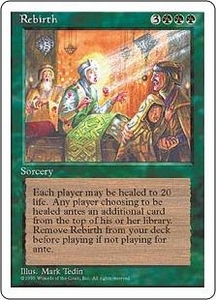 Magic the Gathering Fourth Edition Single Card Rare Rebirth
