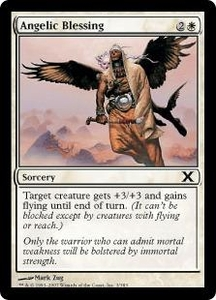 Magic the Gathering Tenth Edition Single Card Common #3 Angelic Blessing