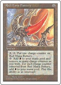 Magic the Gathering Fourth Edition Single Card Rare Red Mana Battery