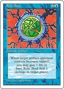 Magic the Gathering Fourth Edition Single Card Rare Relic Bind