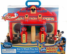 Disney Exclusive Mickey Mouse Gas 'n Wash Play Set