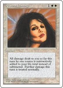 Magic the Gathering Fourth Edition Single Card Rare Reverse Damage