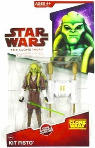 Star Wars 2009 Clone Wars Animated Action Figure CW No. 05 Kit Fisto