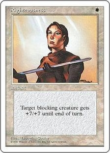 Magic the Gathering Fourth Edition Single Card Rare Righteousness