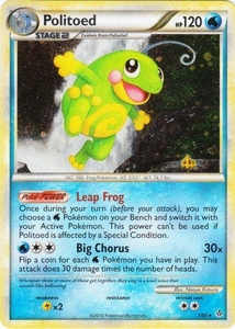 Pokemon Legend: HS Unleashed Single Card Rare Holo #7 Politoed