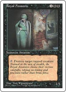 Magic the Gathering Fourth Edition Single Card Rare Royal Assassin Played Condition