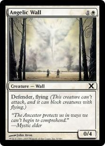 Magic the Gathering Tenth Edition Single Card Common #5 Angelic Wall