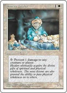Magic the Gathering Fourth Edition Single Card Common Samite Healer