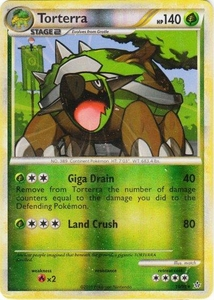 Pokemon Legend: HS Unleashed Single Card Rare Holo #10 Torterra