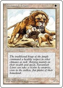 Magic the Gathering Fourth Edition Single Card Rare Savannah Lions