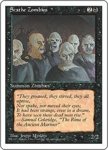 Magic the Gathering Fourth Edition Single Card Common Scathe Zombies
