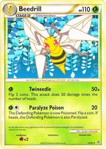Pokemon Legend: HS Unleashed Single Card Rare #12 Beedrill