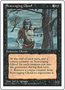 Magic the Gathering Fourth Edition Single Card Uncommon Scavenging Ghoul
