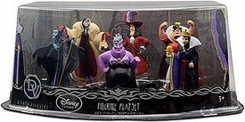 Disney Exclusive 6 Piece PVC Figurine Set Villains [Evil Queen, Maleficent, Captain Hook, Queen of Hearts, Cruella De Vil & Ursula]