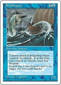 Magic the Gathering Fourth Edition Single Card Common Sea Serpent