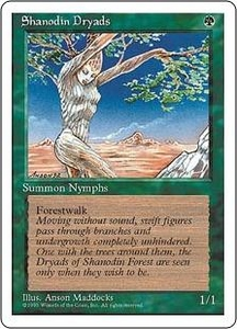 Magic the Gathering Fourth Edition Single Card Common Shanodin Dryads