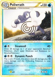 Pokemon Legend: HS Unleashed Single Card Rare #21 Poliwrath