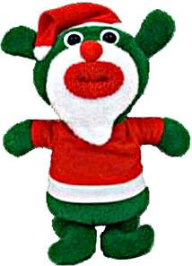 SingAMaJigs Plush Doll Exclusive Christmas Figure GREEN with Santa Suit [Jingle Bells]
