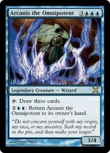 Magic the Gathering Tenth Edition Single Card Rare #66 Arcanis the Omnipotent