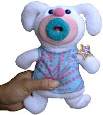 SingAMaJigs Plush Doll Figure FROST WHITE with Pink Dots [Sing, Sing, Sing]