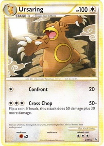 Pokemon Legend: HS Unleashed Single Card Rare #27 Ursaring