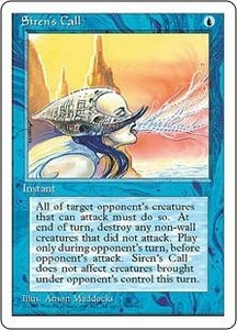Magic the Gathering Fourth Edition Single Card Uncommon Siren's Call