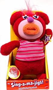 SingAMaJigs Plush Doll Series 3 Figure RED with Pink Striped Shirt [Yankee Doodle]