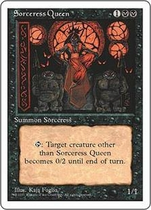 Magic the Gathering Fourth Edition Single Card Rare Sorceress Queen Slightly Played Condition
