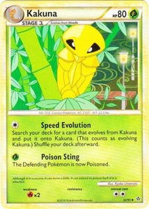 Pokemon Legend: HS Unleashed Single Card Uncommon #32 Kakuna