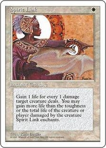 Magic the Gathering Fourth Edition Single Card Uncommon Spirit Link