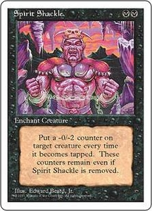 Magic the Gathering Fourth Edition Single Card Uncommon Spirit Shackle