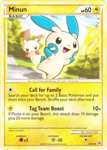 Pokemon Legend: HS Unleashed Single Card Uncommon #34 Minun