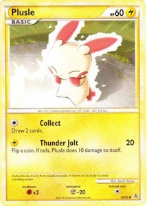 Pokemon Legend: HS Unleashed Single Card Uncommon #36 Plusle