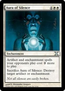 Magic the Gathering Tenth Edition Single Card Uncommon #6 Aura of Silence