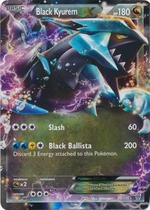 Pokemon Black & White Plasma Storm Single Card Rare Holo Ex #95 Black Kyurem-EX