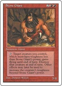 Magic the Gathering Fourth Edition Single Card Uncommon Stone Giant