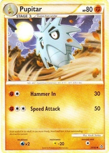 Pokemon Legend: HS Unleashed Single Card Uncommon #39 Pupitar