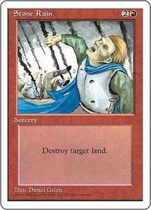 Magic the Gathering Fourth Edition Single Card Common Stone Rain