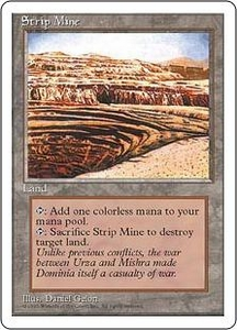 Magic the Gathering Fourth Edition Single Card Uncommon Strip Mine