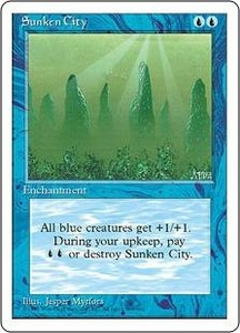 Magic the Gathering Fourth Edition Single Card Common Sunken City