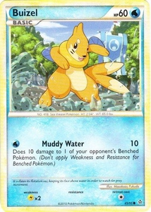 Pokemon Legend: HS Unleashed Single Card Common #45 Buizel