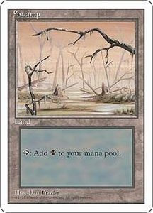 Magic the Gathering Fourth Edition Single Card Land Swamp [Random Artwork]