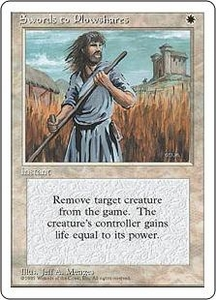 Magic the Gathering Fourth Edition Single Card Uncommon Swords to Plowshares Slightly Played
