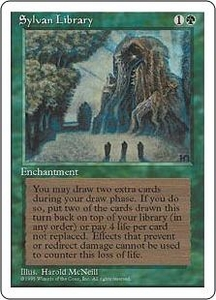 Magic the Gathering Fourth Edition Single Card Rare Sylvan Library
