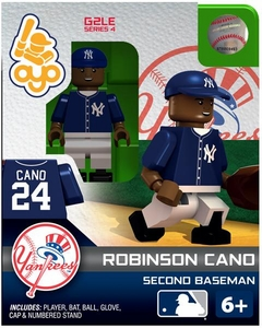 OYO Baseball MLB Generation 2 Building Brick Minifigure Robinson Cano [New York Yankees]