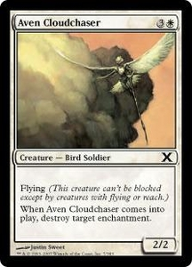 Magic the Gathering Tenth Edition Single Card Common #7 Aven Cloudchaser