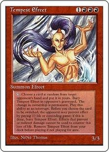 Magic the Gathering Fourth Edition Single Card Rare Tempest Efreet