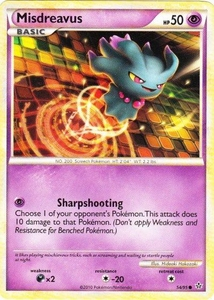 Pokemon Legend: HS Unleashed Single Card Common #54 Misdreavus